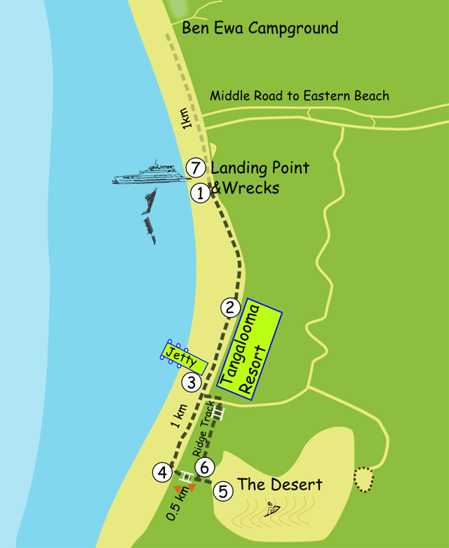 Tangalooma Map
